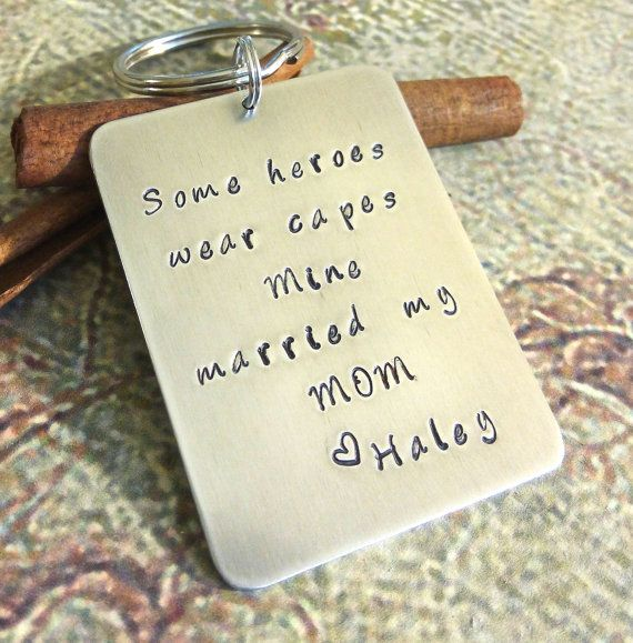Personalized Stepdad Key Chain Step Father by SymbolicReflections