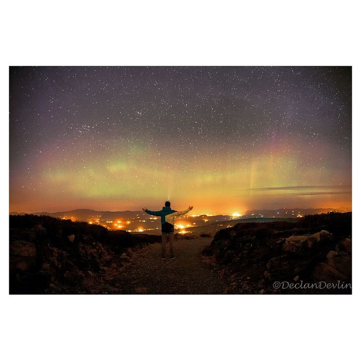 Northern lights, Mountain top Letterkenny Co.Donegal #letterkenny #northernlights #aurora #donegal #wildatlanticway
