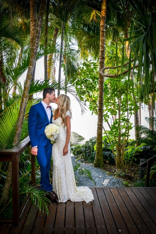KAREN WILLIS HOLMES Real Bride Hayley and Todd's Hamilton Island wedding. Hayley looks gorgeous in her Alexandra gown from the KWH by KAREN WILLIS HOLMES collection #weddinggown #realwedding www.karenwillisholmes.com/au/collections/kwh