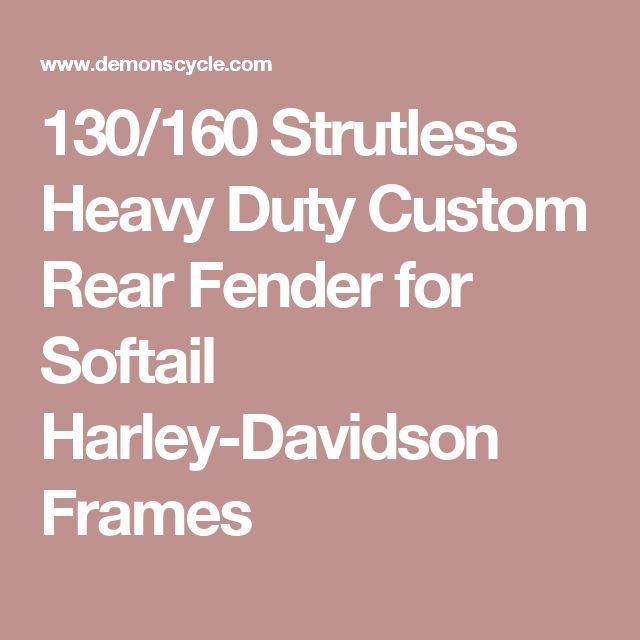 130/160 Strutless Heavy Duty Custom Rear Fender for Softail Harley-Davidson Frames