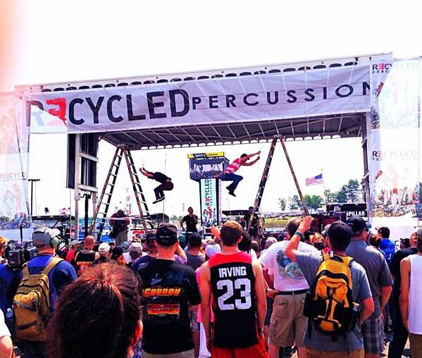 Check out how Recycled Percussion incorporated Werner ladders into their NASCAR show