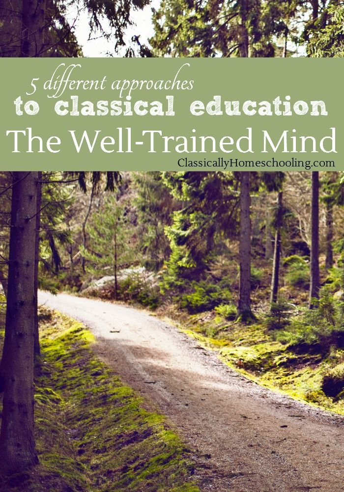 The Well-Trained Mind's approach to classical education uses Dorothy Sayers' Lost Tools of Learning as a spring board to the Trivium of grammar, dialectic, and rhetoric stages.