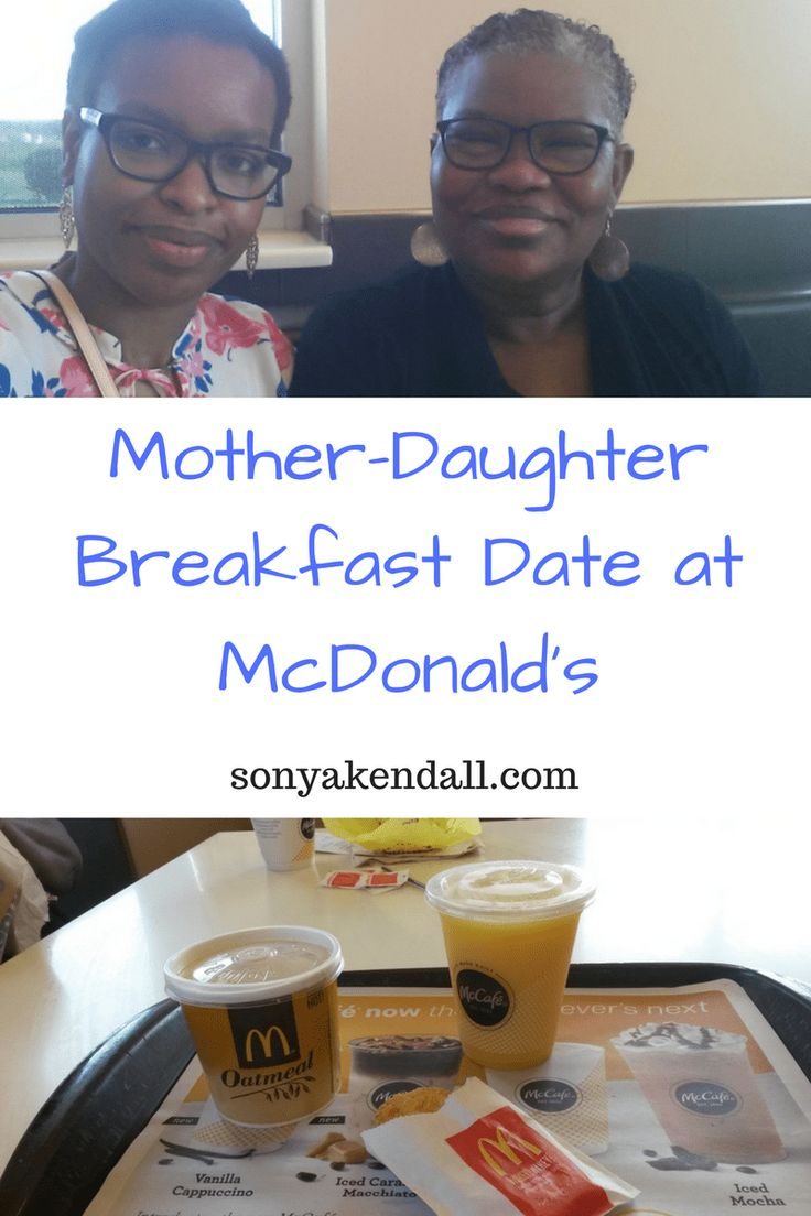 #ad #McDAmbassador While I was growing up my mother and I had weekly breakfast dates, often times at McDonald's. The two of us recently went to McDonald's for another date.