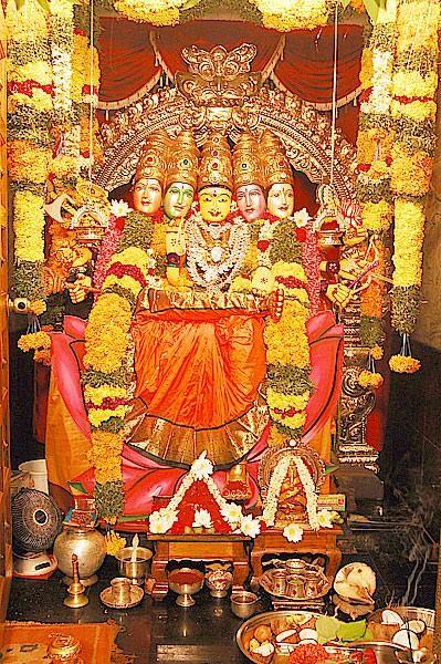 Annapoorna Devi alankaram at Ambica Devi temple Eluru     Om Shakti    - TemplePurohit.com - http://ift.tt/1HQJd81