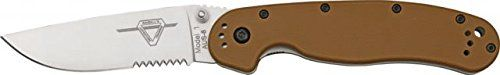 Ontario Knife RAT-1 Knife, 5in. Closed. 8849CB BROWN.