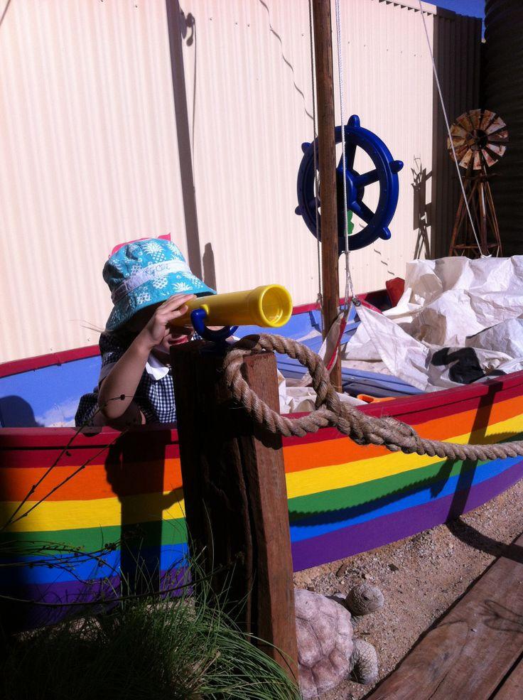 Telescope and boat wheel too