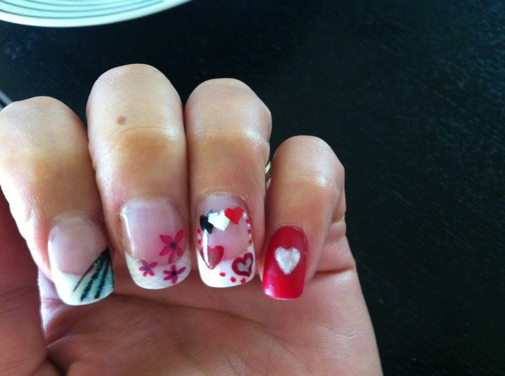 My Valentines nails :-)