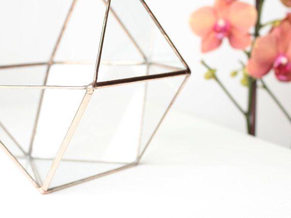 Geometric Terrarium Container Glass Succulent Planter by Waen