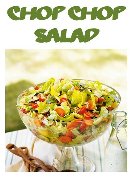 Chop Chop Salad Recipe! ~ skip a trip to your local restaurant, and make your own yummy Chop Chop Salad at home! #salads