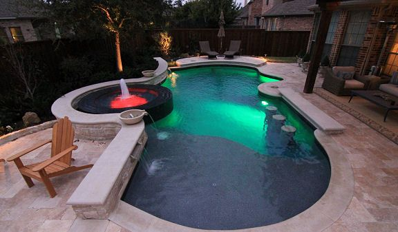 17 Best Images About Custom Inground Pool Designs On