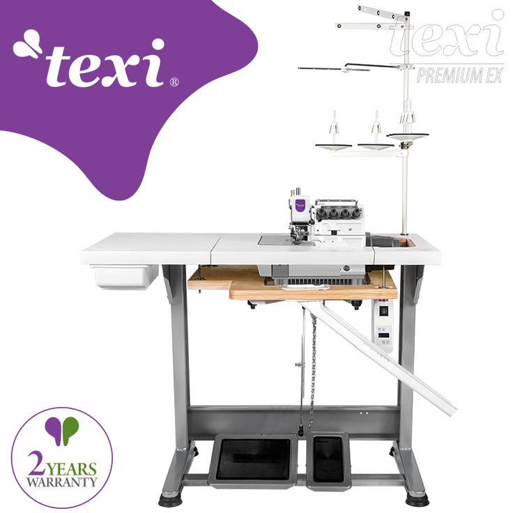 5-thread overlock machine with build in AC Servo motor - complete sewing machine