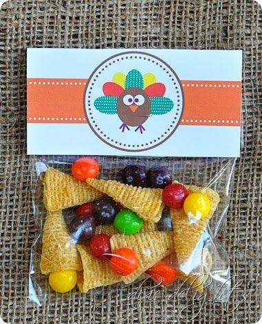Turkey Treat {Free Printable} + Nut Free Snack Idea