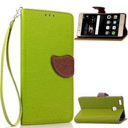 Huawei P9 Lite vihreä puhelinlompakko.