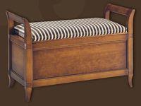 Tres modelos de bancos/baúles de dormitorio - Madera maciza