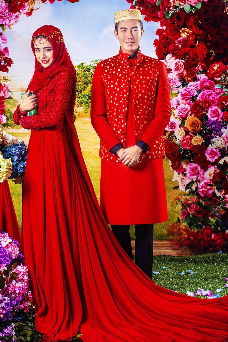 Summer Red Abaya in Dubai Muslim Lace Islamic Arabic Kaftans Prom Dress 2015 Crystal Long Sleeves