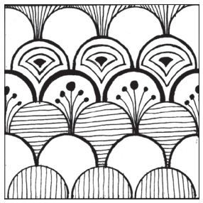 Give it a try templates - Pattern 1. Free downloadable template with patterns & designs for meditative drawing - designs by Jane Oliver