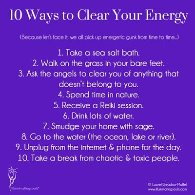 Energy Clearing is an important part of Healing husbandry. If your Aura becomes clogged and 'dirty' it can cause 'dis-ease' Take care of yourself so that you can take care of others