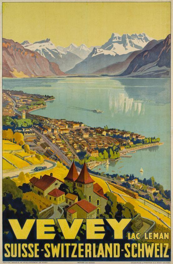 Vevey ( Canton de Vaud ) Johannes Emil Muller 1925