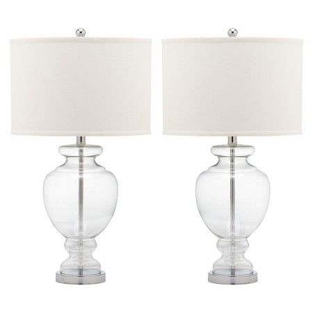 Safavieh Clear Glass Table Lamp - Clear (Set of 2) : Target 126