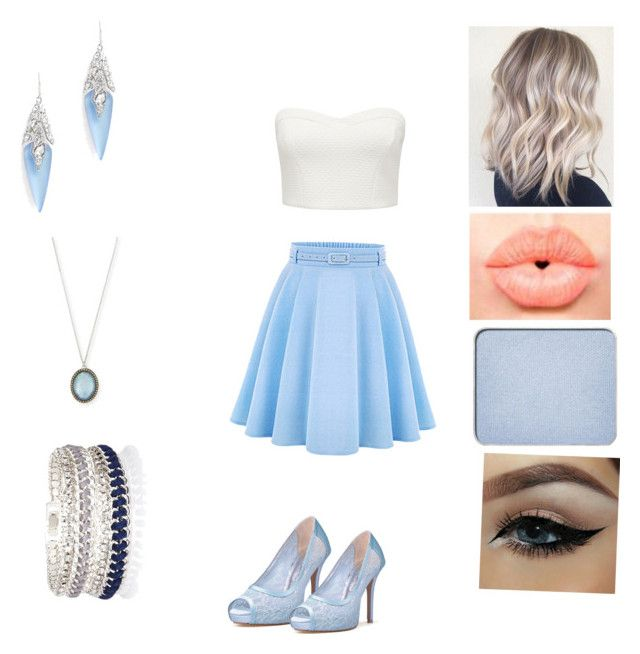 """Baby blue love"" by badass-girly on Polyvore featuring WithChic, Forever New, NYX, shu uemura, Alexis Bittar, Armenta, River Island, women's clothing, women and female"