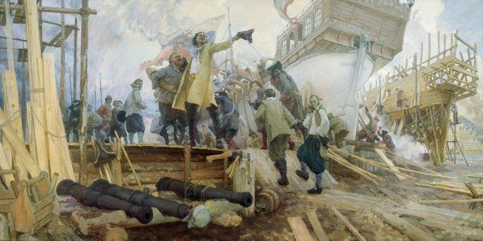 КАК И КЕМ СОЗДАВАЛСЯ ВОЕННО — МОРСКОЙ ФЛОТ РОССИИ