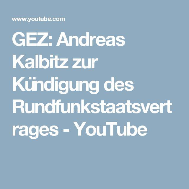 GEZ: Andreas Kalbitz zur Kündigung des Rundfunkstaatsvertrages - YouTube