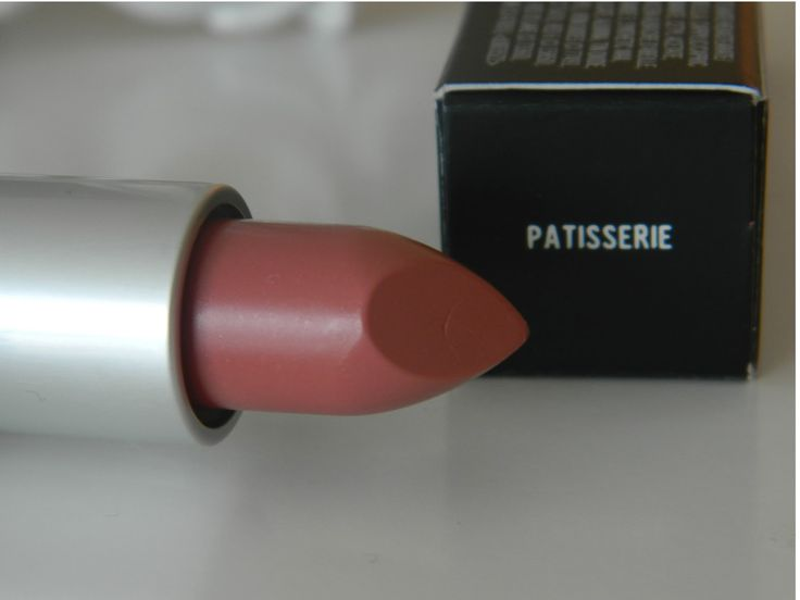 MAC Patisserie Lipstick- My Top 10 MAC Lipsticks - This one might actually be my #1 ! The perfect nude for my complexion. Just the right amount of pink with a hint of gold shimmer. Lustre formula.