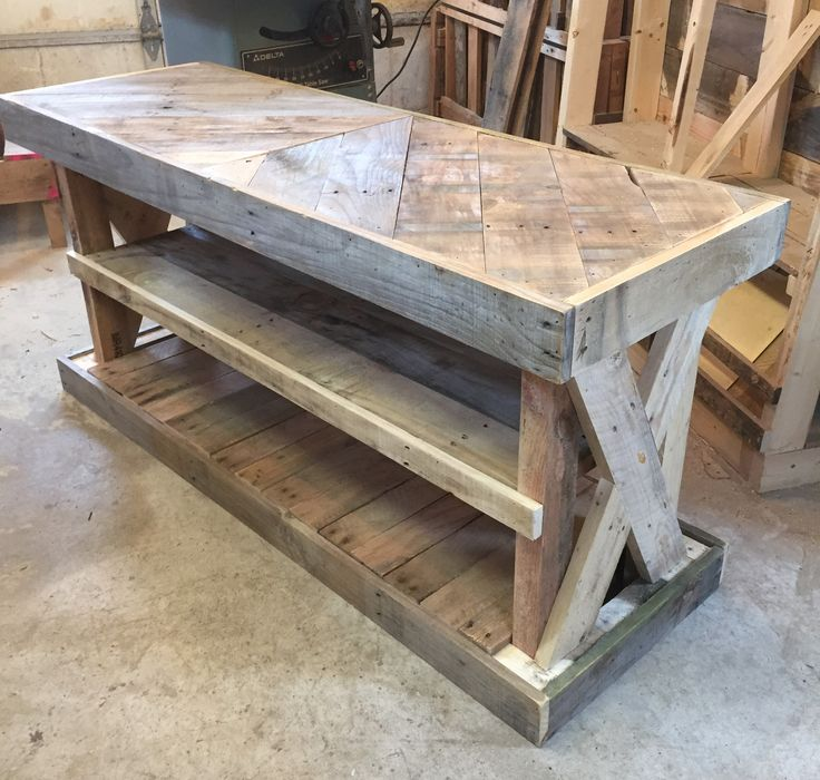 What a great way to add rustic charm to your entryway. This entryway table was…