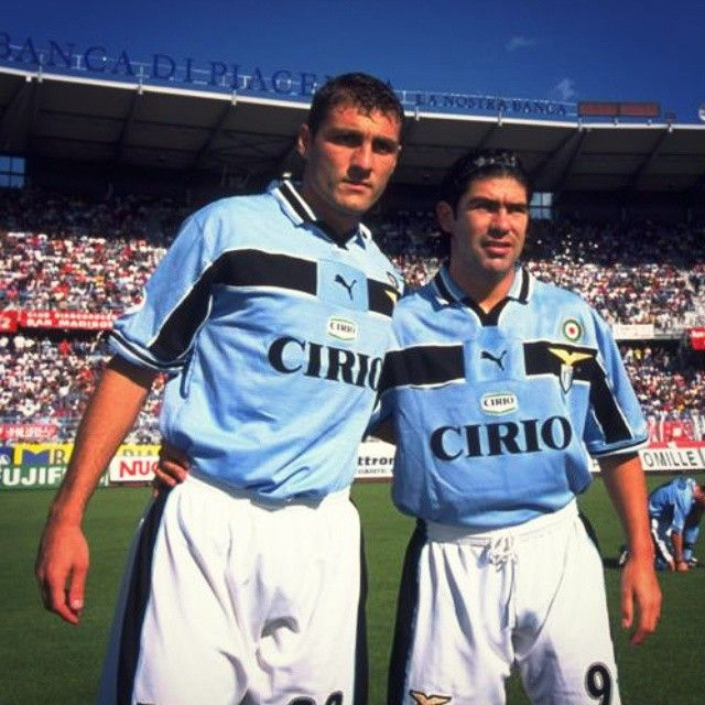 """Christian Vieri & Marcelo Salas, Lazio #old_school_football"""