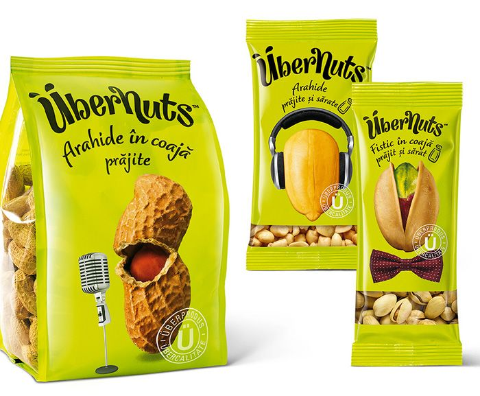 Übernuts | funny design on these stand up pouches for nuts  #stand #up #pouches for more information visit us at  www.coffeebags.co.za