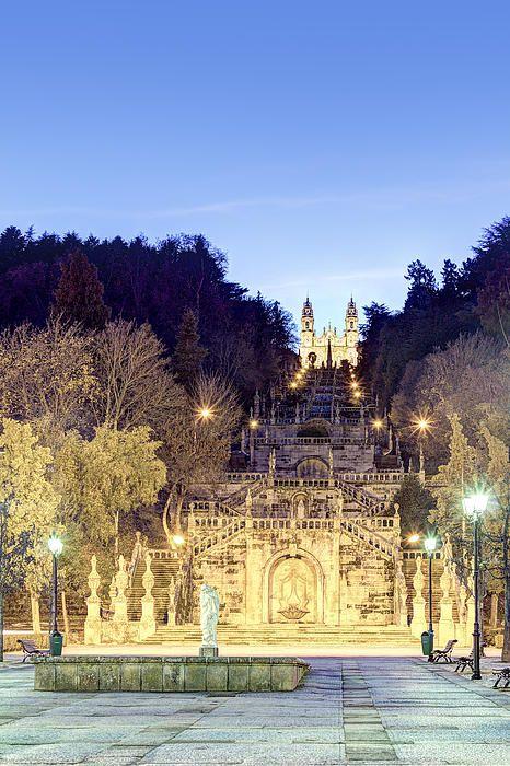 Sanctuary of Nossa Senhora dos Remedios, Lamego, Portugal.
