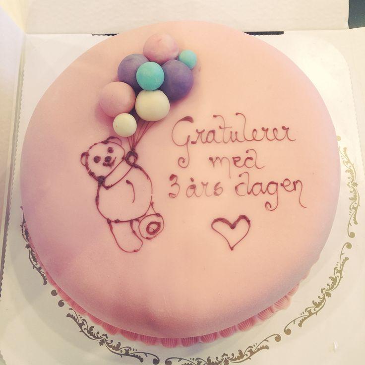 Bursdagskake til ei lita jente