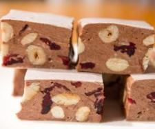 Recipe Choc-hazelnut and sour cherry nougat by Erica Noble - Recipe of category Desserts & sweets