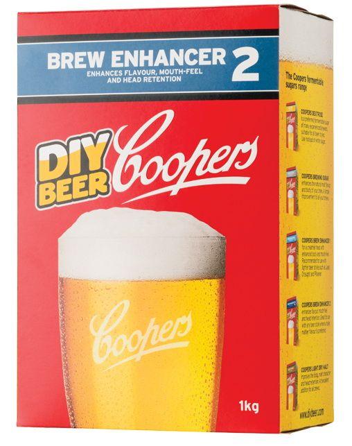 Coopers Beer Enhancer 2    Coopers Brew Enhancer 2 contine dextroza si maltodextrina si malt light . Dextroza va fementa complet, fara   arome reziduale, in timp ce maltodextrina nu fermenteaza, imbunatatind astfel corpolenta berii, gustul si   persistenta spumei. Maltul este 100% pale malt va adauga n continuare corpolenta si va adauga note de malt   suplimentare berii favorite.  Coopers Beer Enhancer 2 se recomanda pentru beri mai robuste, cu note pronuntate de malt.  Se foloseste in locul…