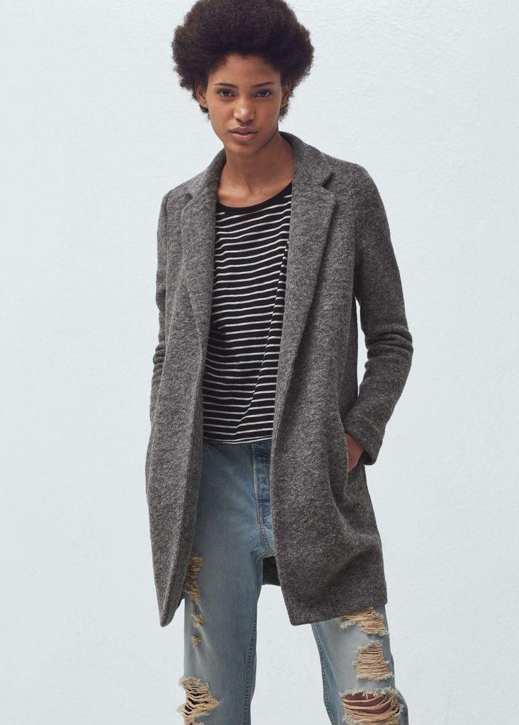 Lapels wool coat | MANGO