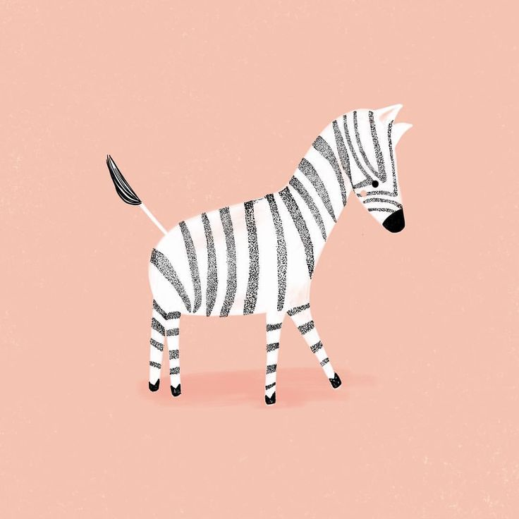 No. 64 | Wittle Zebra. Guess this is becoming a series... what should I make next? . . . . . . . #illustration #zebra #stripes…