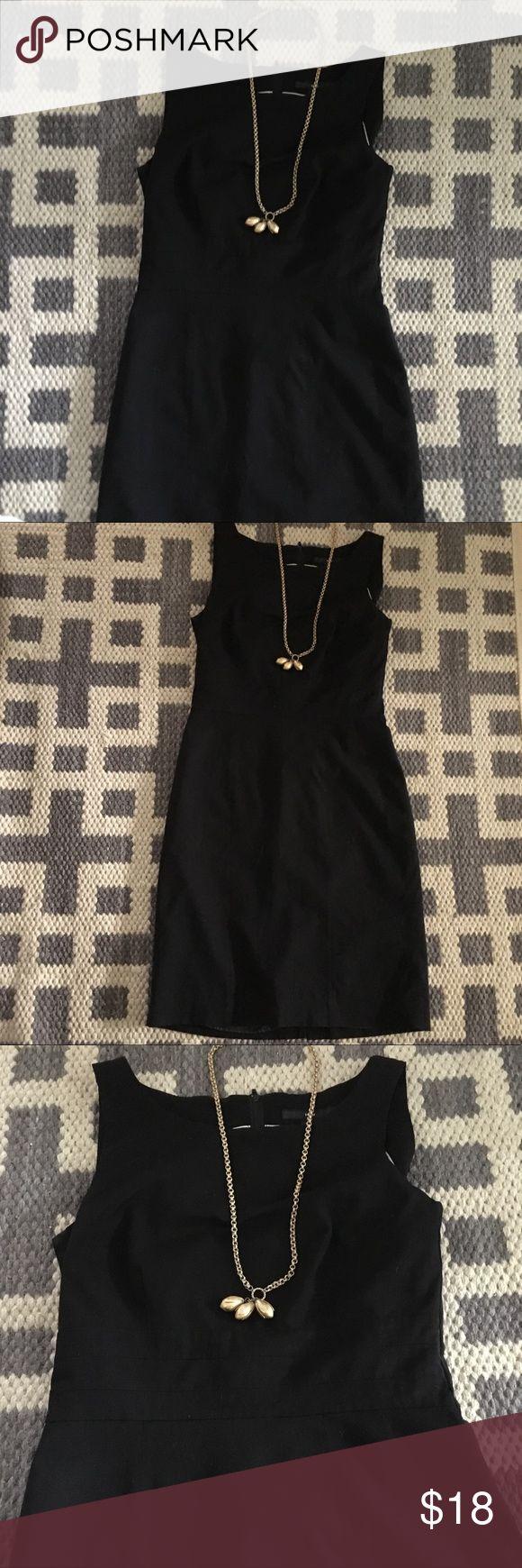 H m little black sleeveless lined a line dress 8