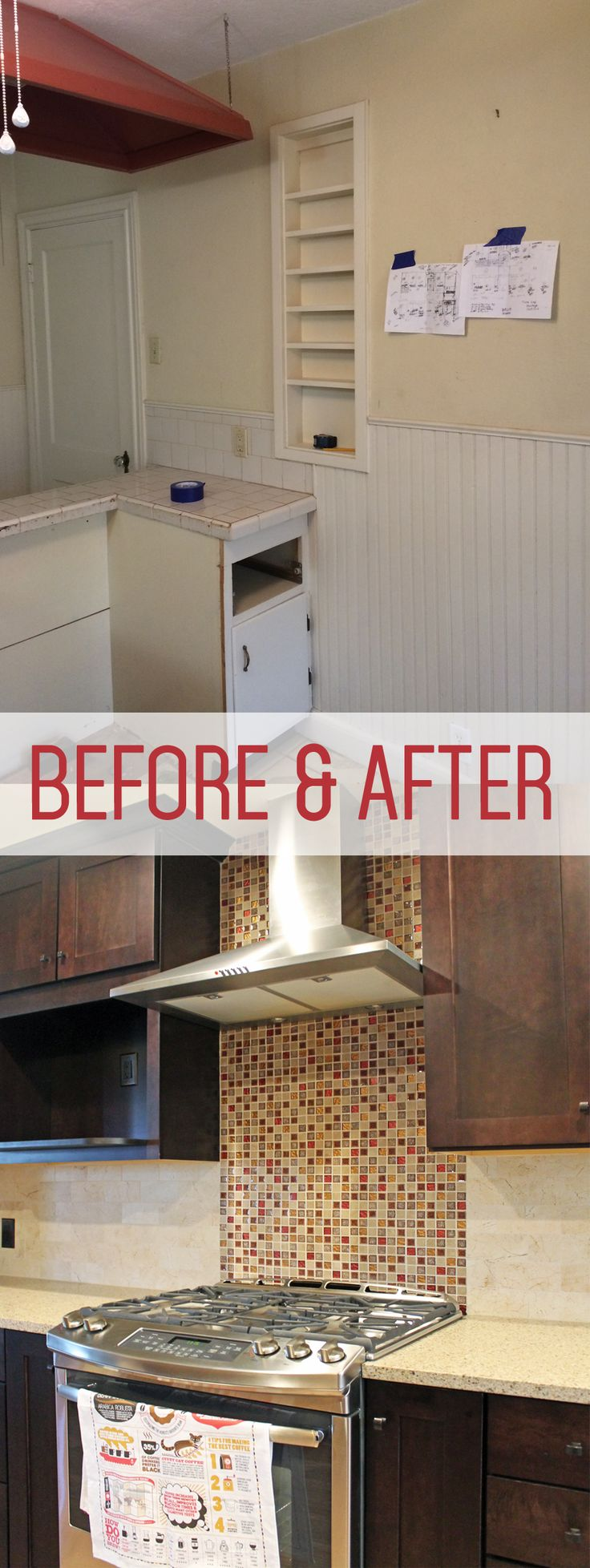 Kitchen remodel before and after. | Before and After