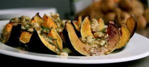 Honey roasted gem squash with walnuts #recipe