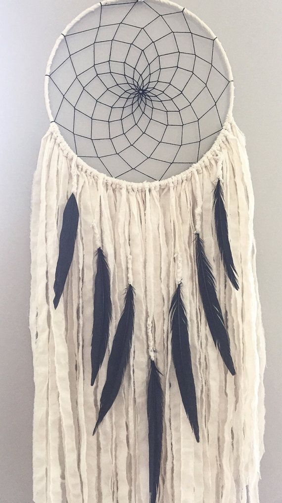 Large Dream Catcher Large White Dream by willowandwanderlust