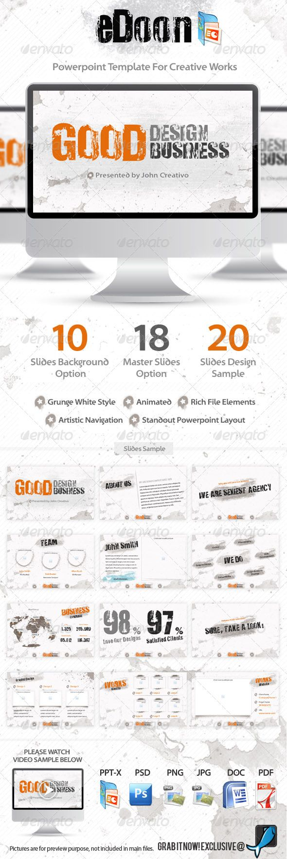 eDoon - Powerpoint Template For Creative Works  - GraphicRiver Item for Sale