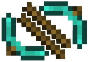 Minecraft-pickaxe-template