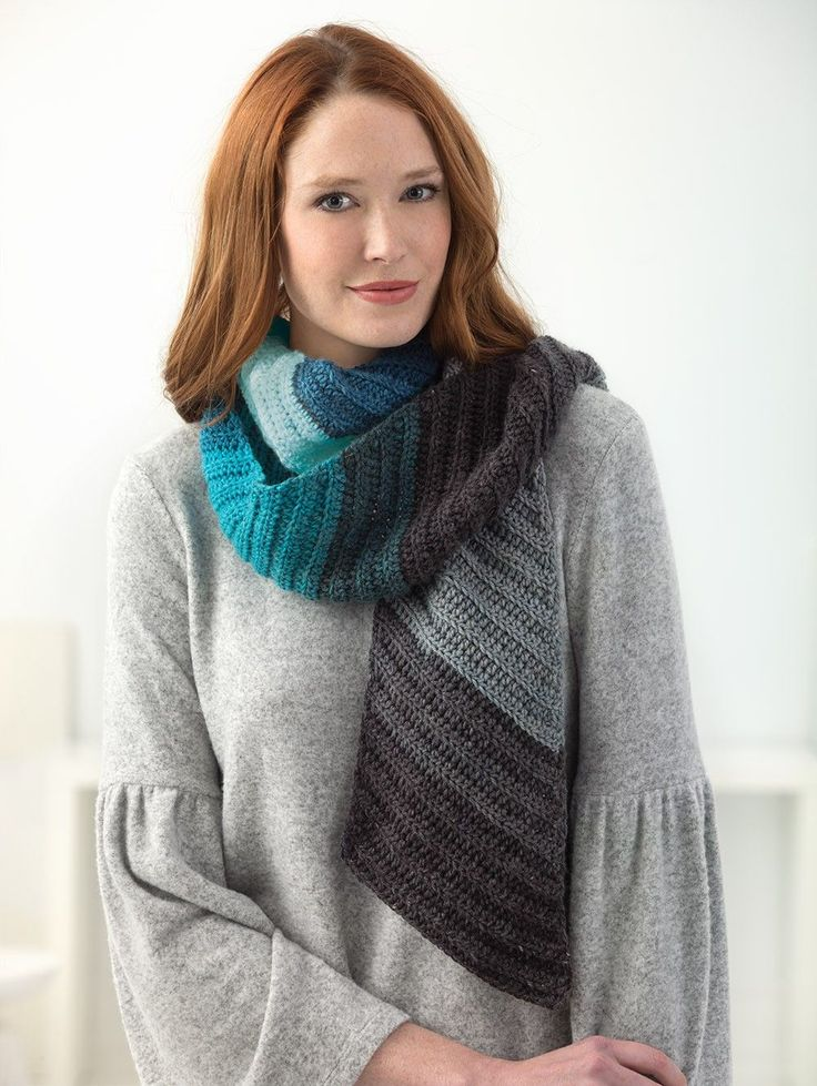 Shaded Diagonal Scarf (Crochet) *Out of Stock - ETA January 2018