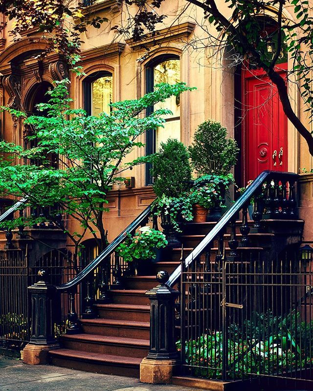 #brownstones west village #newyorkcity