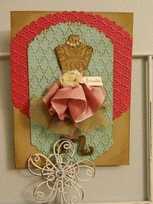 Dress Up Framelit makes for a card for someone special. Happy Crafting~Dee by georgette