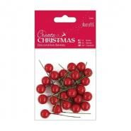Create Christmas - Decorative Berries Red