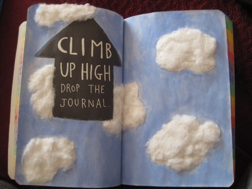 Climb up high, from Wreck This Journal. (Also with cities)