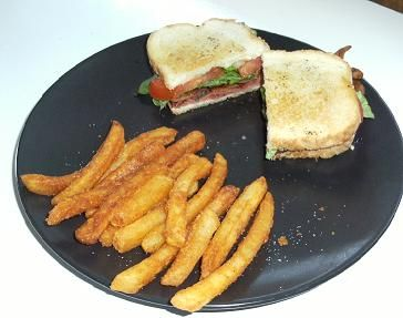 Gourmet Bacon Lettuce Tomato and Brie Cheese Sandwich - www.TheCheapGourmet.com