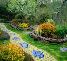 Mosaic Garden Path From National Home Gardening Club U003e Gardening U003e Gardening  U0026 Landscape Design