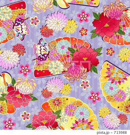 花扇パターンのイラスト素材 by madara | Japanese Pattern | Pinterest ...